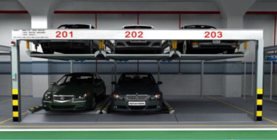 2-Level Automated Puzzle Parking System