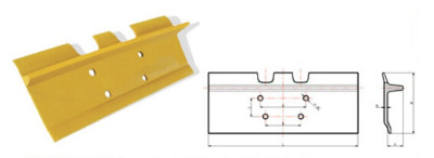 175-8802  Track Shoe (Moderate Service, Single Grouser)