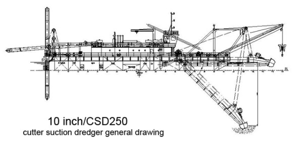 10-inch-csd250-cutter-suction-dredger-drawing