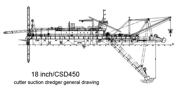18inch-csd450-cutter-suction-dredger-drawing
