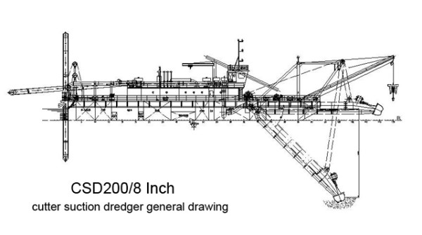 8-inch-csd200-cutter-suction-dredger-drawing