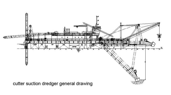 cutter-suction-dredger-drawing