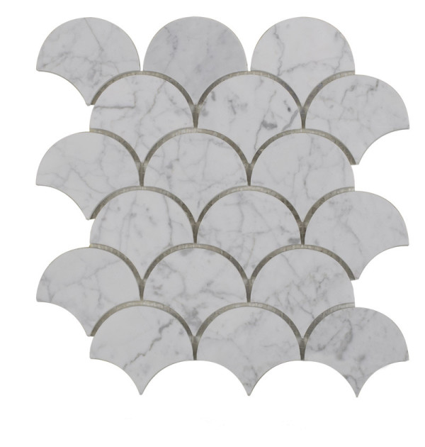 305*305mm,Irregular Gray Marble Mosaic Tile