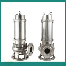 Stainless steel submersible dirty water pump