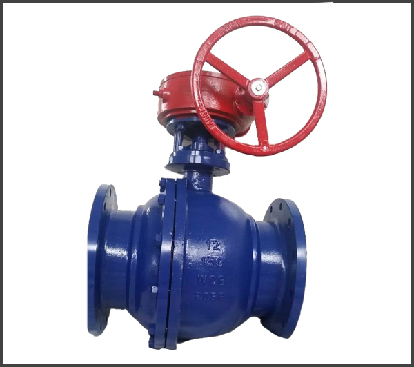 Two-Pieces-Floating-Ball-Valve-with-Worm