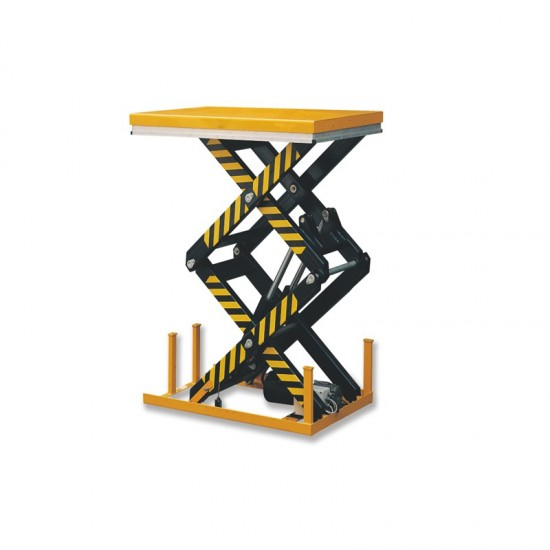 Double scissor electric lift table