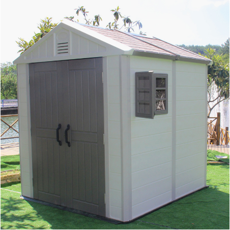 Plastic garden storage shed house