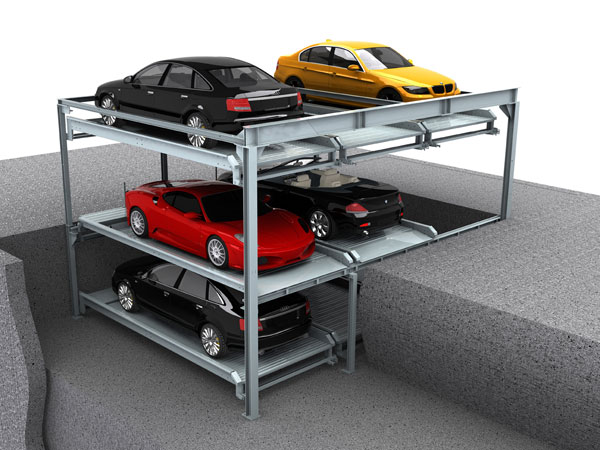 Pit Lift-sliding Parking System